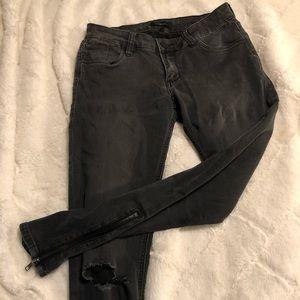 STS Blue Grey-Black Skinny Ankle Jean